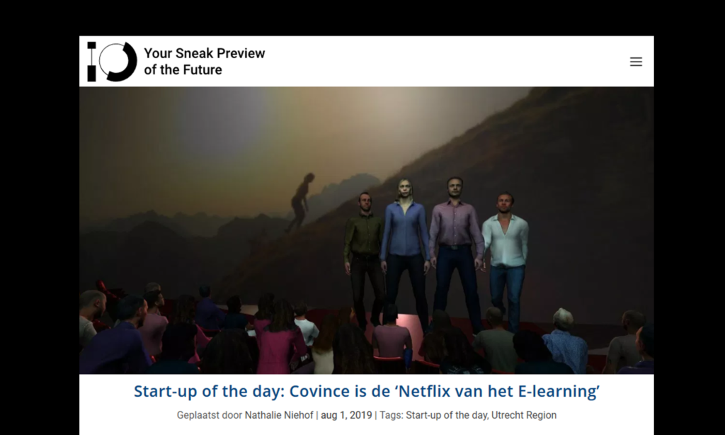 Interview Innovation Origins: 'Start-up of the day: Covince is de 'Netflix van het E-learning'